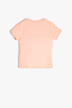 Koton Turuncu Erkek Bebek Yazılı Baskılı T-Shirt 3