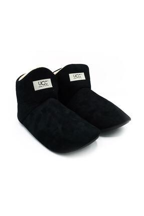 UCC Unisex Siyah Içi Yünlü Ev Pandufu Ev Botu Ev Ayakkabısı 0