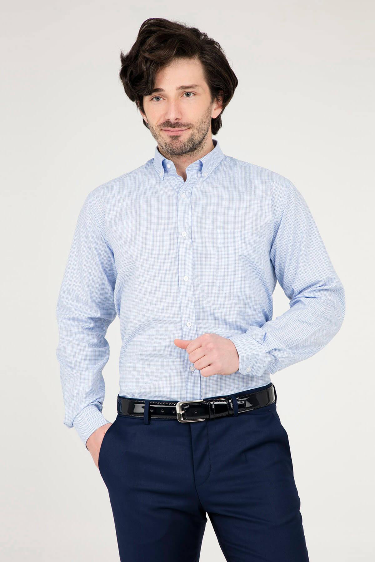 Erkek Açık Mavi Uzun Kollu Gömlek - 1Gm91Uk1265R 554