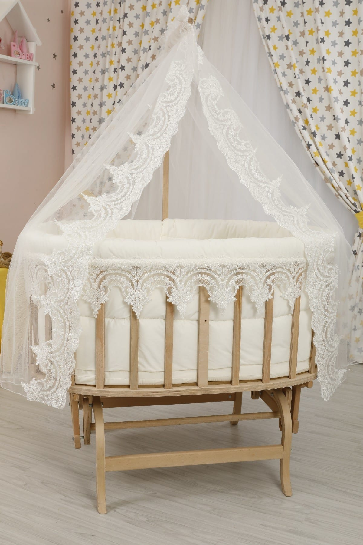 Osmanlı Uyku Seti ile Amedan Gold Sepet Bebek Beşikleri