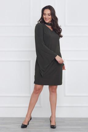 Laranor Kadın Yeşil Kol Detaylı Elbise 17LB9018 2