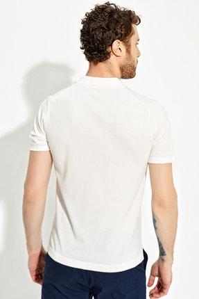 CHUBA Ekru Erkek Polo Yaka Yırtmaçlı Sportriko T-shirt 3