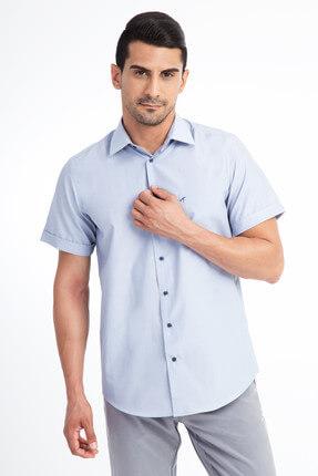 Kiğılı Kısa Kol Regular Fit Çizgili Gömlek 1