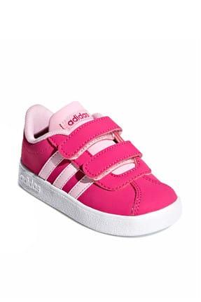 adidas Vl Court 2.0 Cmf I Fuşya Pembe Kız Çocuk Sneaker Ayakkabı 100398772 3