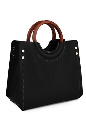Laura Ashley Kadın Ahşap Askılı Çanta Siyah 0