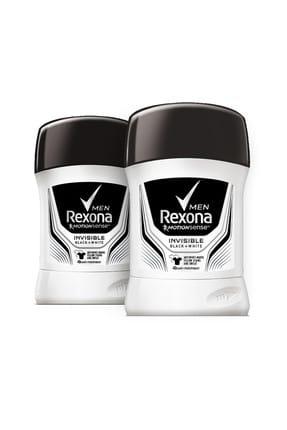 Rexona Erkek Deodorant Stick Invisible Black White 50 ml x2 0