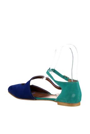 Fox Shoes Saks Mavi Su Yeşili Kadın Ayakkabı D726016902 3