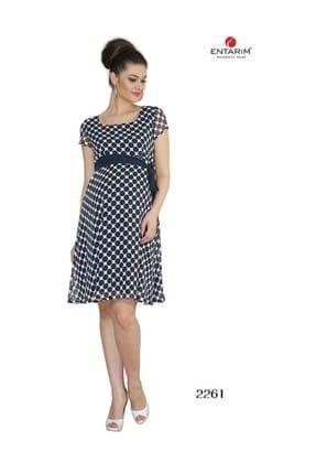Hamile Şifon Elbise Lacivert 2261