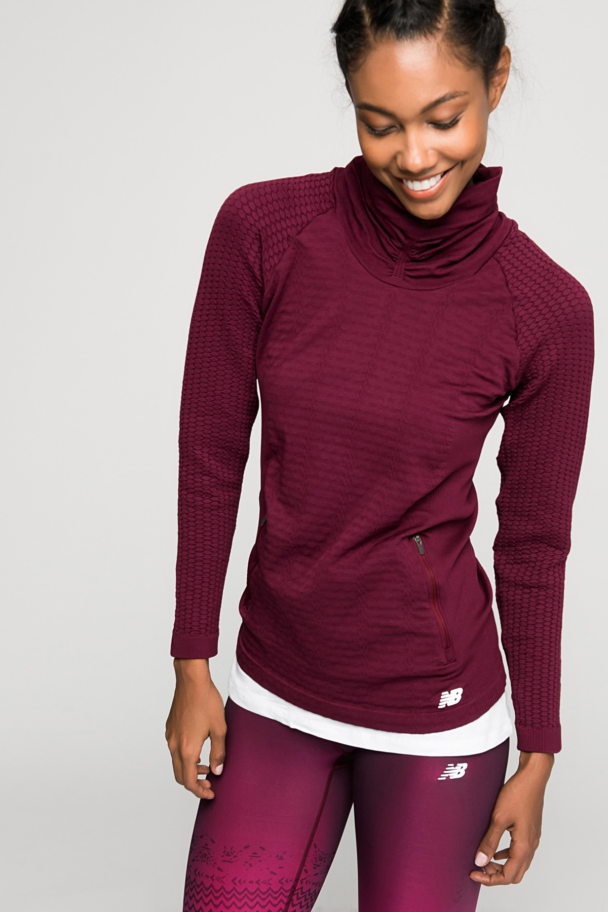 Kadın Bordo Sweatshirt - WT63136-SDR