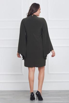 Laranor Kadın Yeşil Kol Detaylı Elbise 17LB9018 1