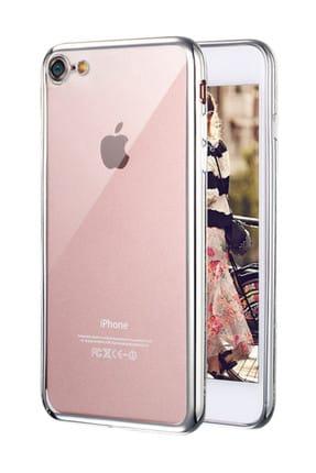 Microsonic Apple iPhone 7 Kılıf Flexi Delux Gümüş 0