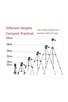 AlpCollection 3110 Ayarlanabilir 1m 105cm Kademeli Telefon Kamera Tripod Ayak 1