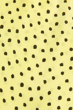 Mango Kadın Çim Rengi Puantiyeli Bluz 41015830 4