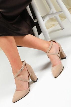 Vizon Süet Kadın Klasik Topuklu Ayakkabı klasik topuklu ayakkabı 000037
