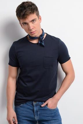 Rodi Jeans Rodi Rd19ye279978 Lacivert Erkek Fırçalı Süprem Cepli Bis Yaka T-shirt 0
