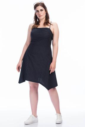 Kadın Ayar Askılı Elbise Lacivert 1354 1354 resmi