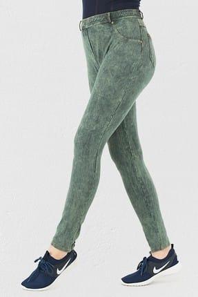 Mite Love Yeşil Pantolon Görünümlü Kadın Tayt 1