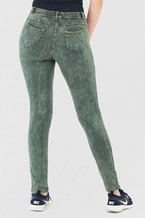 Mite Love Yeşil Pantolon Görünümlü Kadın Tayt 2