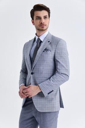 Hatemoğlu Yelekli Slim Fit Lacivert Takım Elbise 33202018C192 2