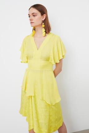 İpekyol Kadın Neon Sarı Neon  Bel Vurgulu Asimetrik Bluz IS1190006252BT1 1