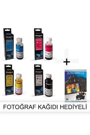 PHOTOINK HP Officejet 350 1 Takım Photoink Mürekkep- Fotoğraf Kağıdı Hediyeli 0