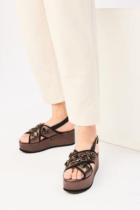 İnci Haki Kadın Sandalet 120130005620 0