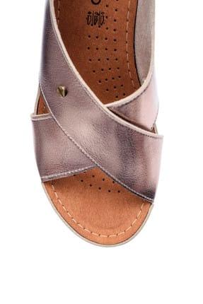Derimod Platin Rengi Kadın Sandalet 3