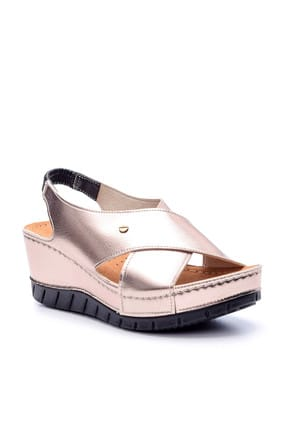 Derimod Platin Rengi Kadın Sandalet 1