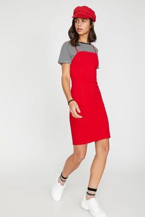 Koton Kadın Kırmızı Kolsuz Midi Askılı Elbise 9YAL88011OK 1