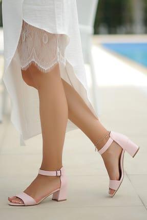 Pembe Potin Pudra Kadın Klasik Topuklu Ayakkabı A190-19 1