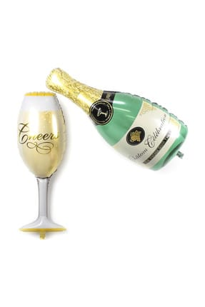 Chavin Doğum Günü Dev Boy Şampanya Kadeh Folyo Balon cin174 0