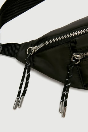 Pull & Bear Kadın Siyah Bel Çantası 16079014 2