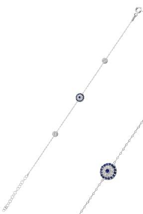 Söğütlü Silver Kadın Nazarlık Model Zirkon Taşlı Gümüş Bileklik SGTL9720 0