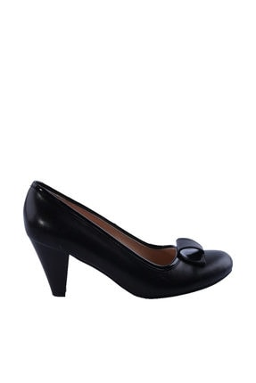 Dgn Siyah Kadın Klasik Topuklu Ayakkabı 092-148 0