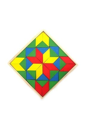 RoseRoi Ahşap Eğitici Oyuncak Bultak+Geometrik Set +Tangram+Kule 6'lı Set 2