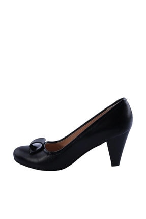 Dgn Siyah Kadın Klasik Topuklu Ayakkabı 092-148 3