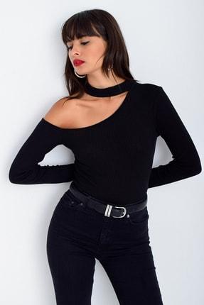 Cool & Sexy Kadın Siyah Tek Omuz Bluz CG53 0