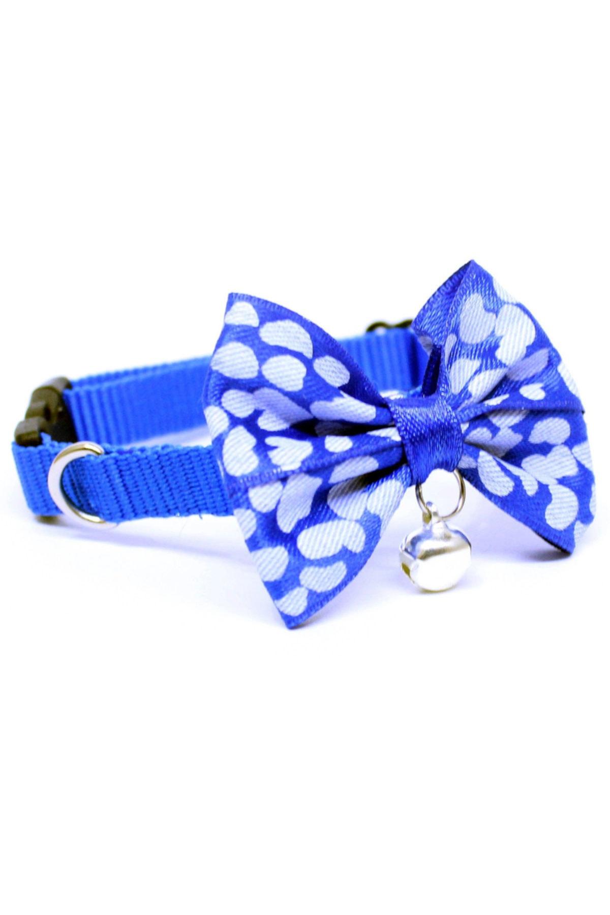 Papyonlu Kedi Boyun Tasması Mavi
