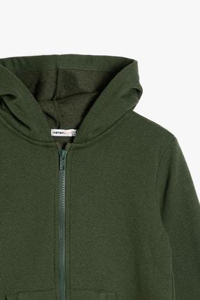 Koton Yeşil Erkek Çocuk Kapüsonlu Sweatshirt 2