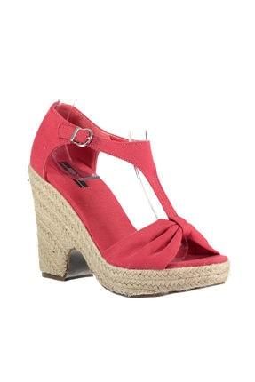 Picture of Açık Kırmızı Kadın Dolgu Topuklu Ayakkabı 120116026800