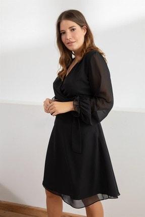Melisita Kadın Siyah Misty Anvelop Elbise fw01965eb 4