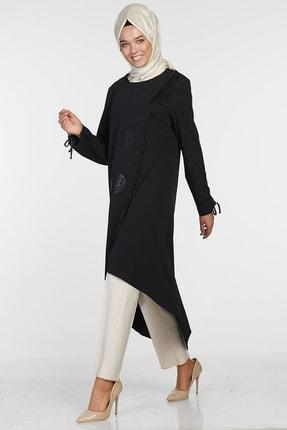 Sitare Kadın Siyah Önü Püsküllü Giy Çık 20K2284 20KGY20K2284 1