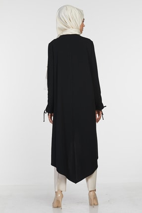 Sitare Kadın Siyah Önü Püsküllü Giy Çık 20K2284 20KGY20K2284 4