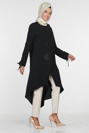 Sitare Kadın Siyah Önü Püsküllü Giy Çık 20K2284 20KGY20K2284 2