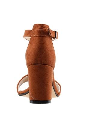 Ayakland Kahverengi Kadın Topuklu Ayakkabı  19YAYAYK0000075 3