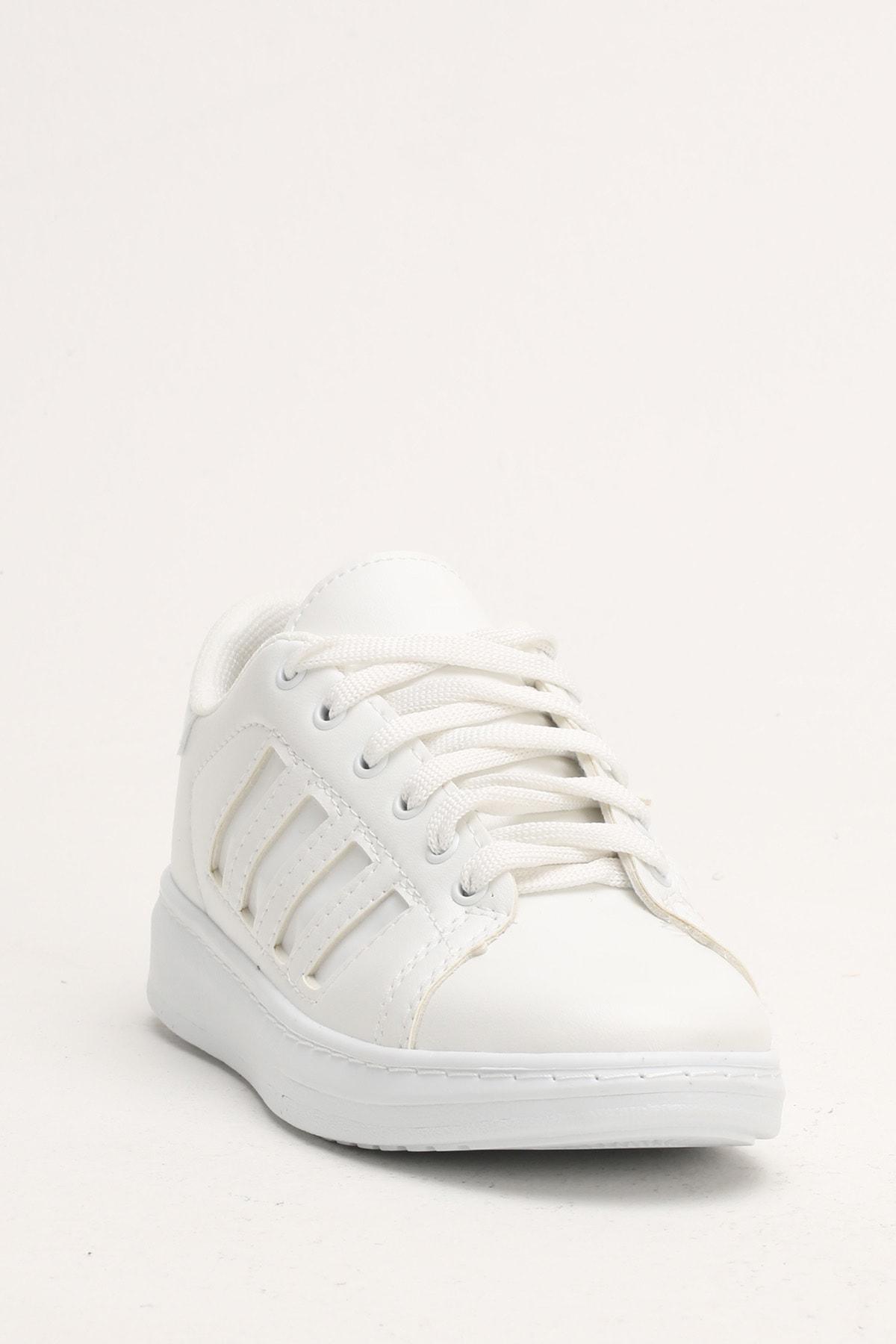 Ayakkabı Modası Beyaz Kadın Spor Ayakkabı M4000-19-101002R 1