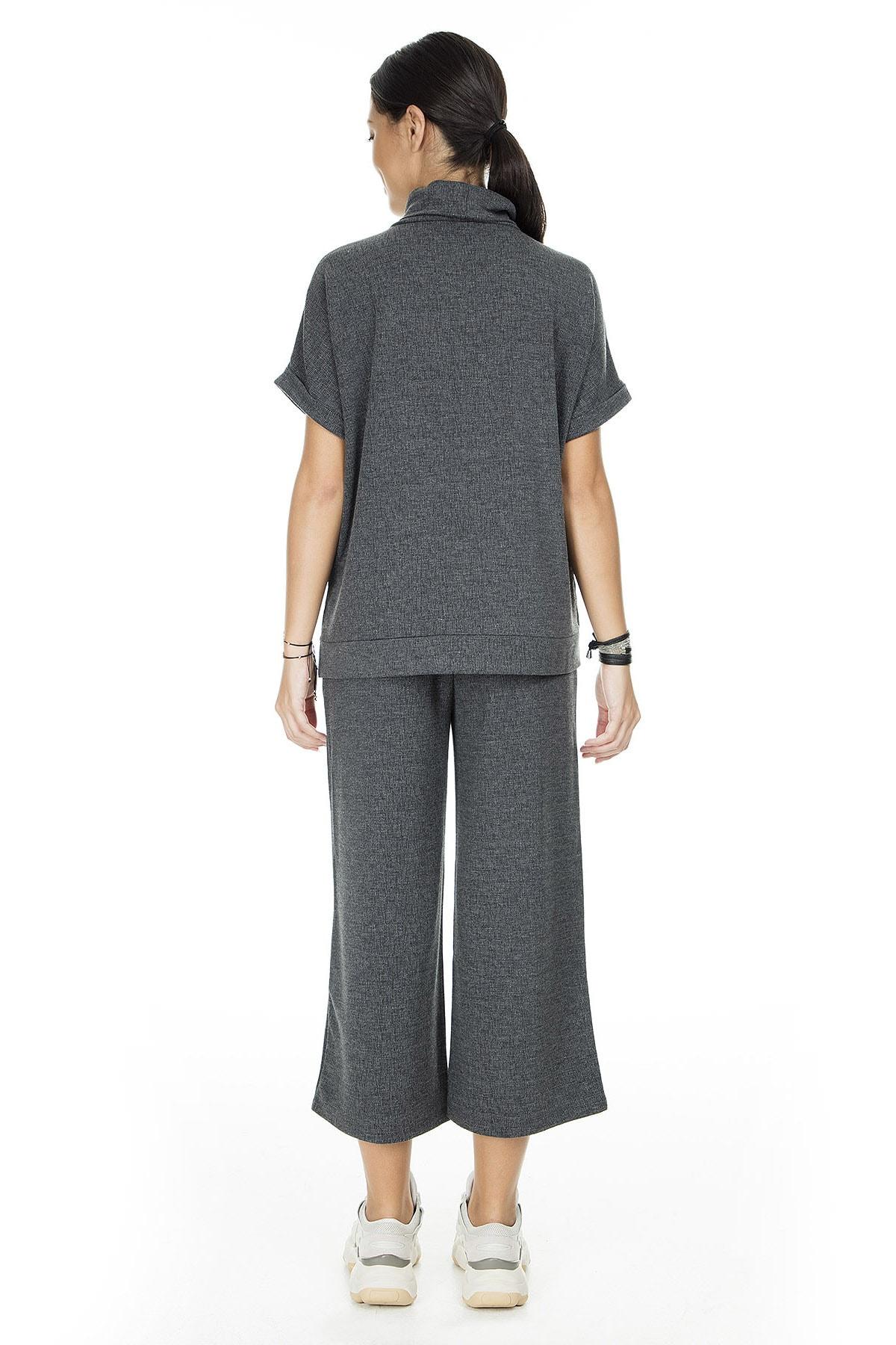 Vero Moda Kadın Mat Füme Örme Pantolon 10222549 VMFALLULAH 10222549 4