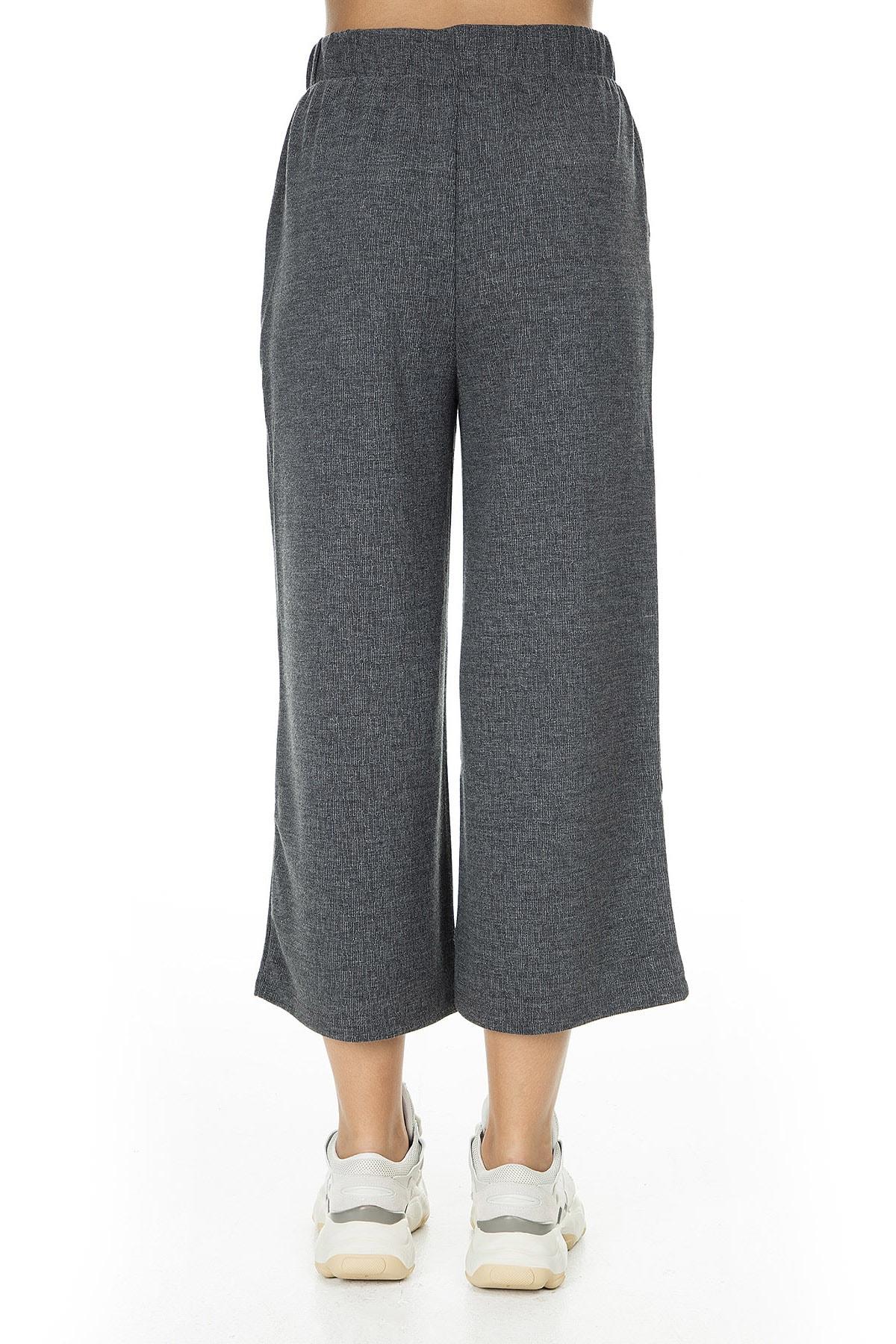 Vero Moda Kadın Mat Füme Örme Pantolon 10222549 VMFALLULAH 10222549 3