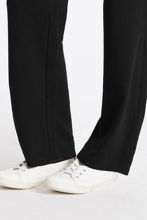 Marks & Spencer Kadın Siyah Pamuklu Eşofman Altı T57006660 4