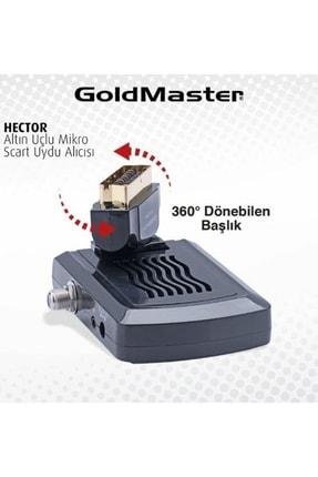 GoldMaster Hector Mini Altın Uçlu Scart Uydu Alıcısı GOMHECTORMINI 0